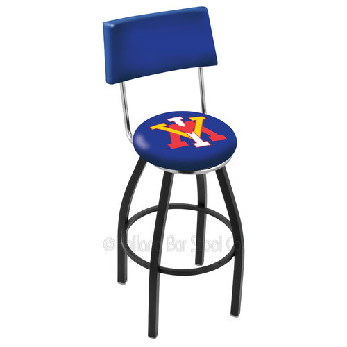 Fresno State 30 Inch L8C4 Chrome Bar Stool With Back
