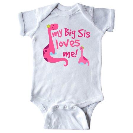 My Big Sis Loves Me Little Girls Infant Creeper (Big Daddy Little Sister Halloween)