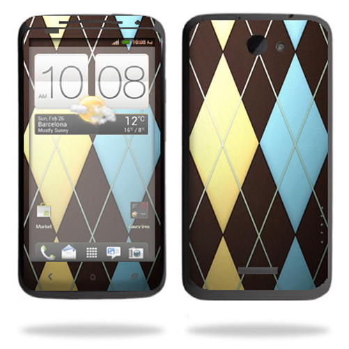 Mightyskins Protective Vinyl Skin Decal Cover for HTC One X 4G AT&T Cell Phone wrap sticker skins Argyle