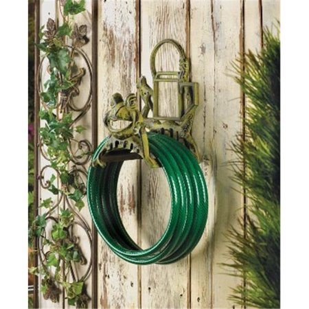 Zingz & Thingz 57071129 Garden Metal Hose Holder with Charming Frog