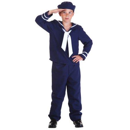Child Blue Sailor Costume - Sailor Kids Costume