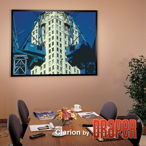 "ShadowBox Clarion Fixed Frame Projection Screen Viewing Area: 111"" H x 111"" W"