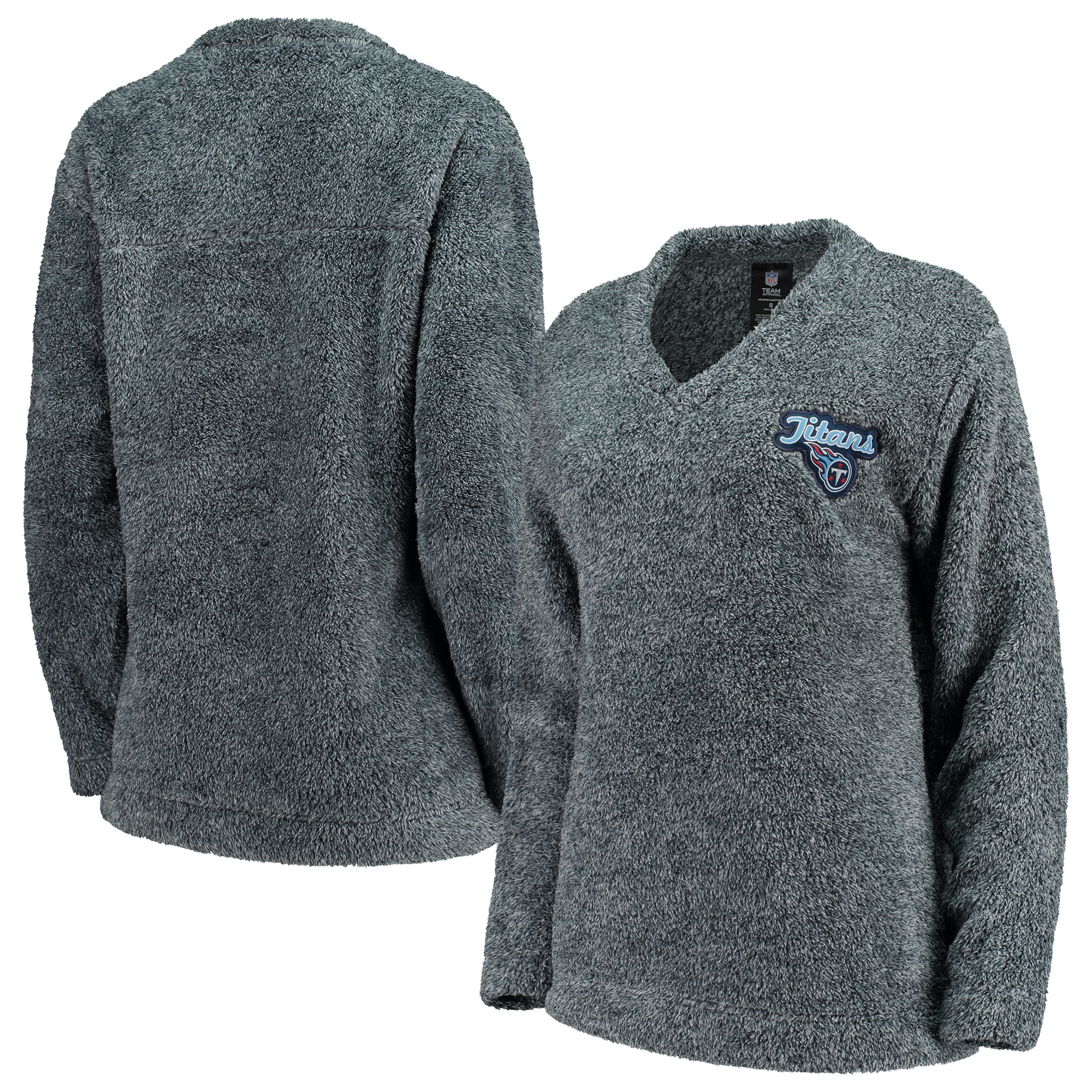 Tennessee Titans Concepts Sport Women's Trifecta Pullover Sweatshirt - Charcoal