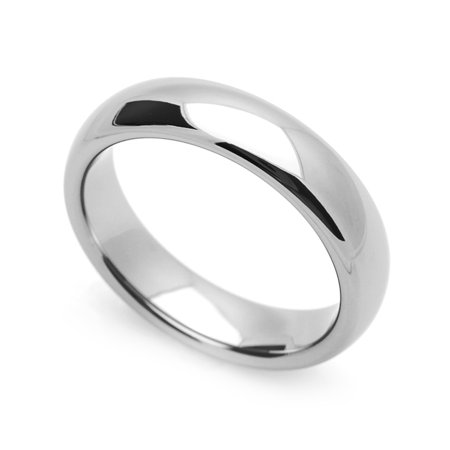 Men Women 5MM Comfort Fit Stainless Steel Wedding Band Classic Domed Ring (Size 5 to 12) Classic Comfort Fit Wedding Band