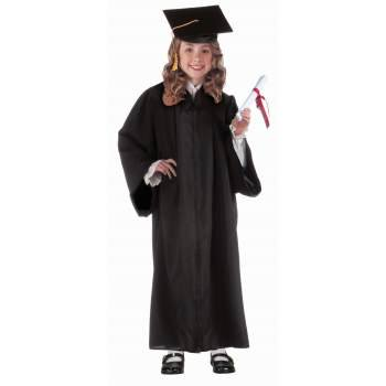 Robe Blanche Halloween (CHILD GRADUATION ROBE-BLACK)