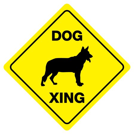 DOG XING Funny Novelty Xing Sign](Cheap Funny)