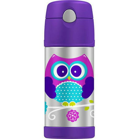 Thermos 12 Ounce Owl Stainless Steel Straw Bottle