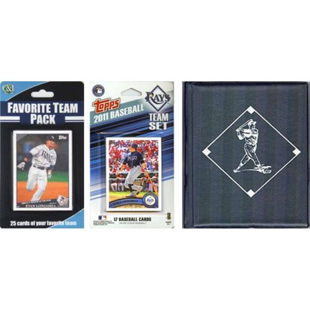 MLB Tampa Bay Rays Licensed 2011 Topps® Team Set and Favorite Player Trading Cards Plus Storage - Halloween Store Tampa