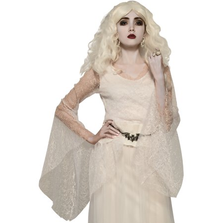 Womens Victorian Era Gothic Ghostly White Top Costume Accessory](Gothic Victorian Halloween Decorations)