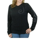 Outback Trading Shirt Womens Junee Studded Swirl Long Sleeve 40073