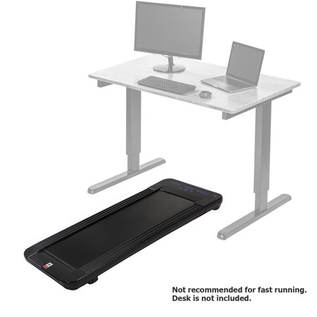 Xspec Under Desk Walking Treadmill, Compatible for Standing Desk and Cubicles, Slim Design with Transport Wheels, Cardio Workout Indoor Jogging Exercise