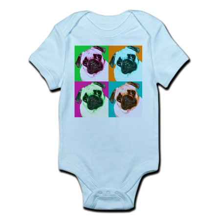 CafePress - Pop Art Pug Infant Creeper - Baby Light Bodysuit for $<!---->