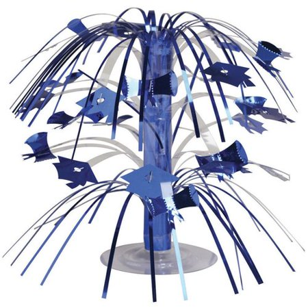Blue Graduation Mini Cascade Centerpiece