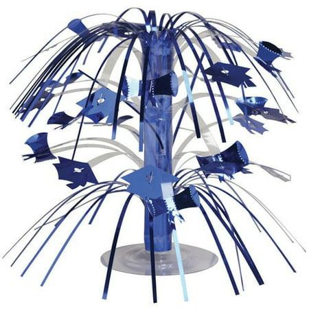 Blue Graduation Mini Cascade Centerpiece - Easy Graduation Centerpieces To Make