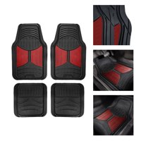 FH Group Heavy Duty Rubber Trim to Fit Monster Eye Floor Mats-4 Pieces, Burgundy