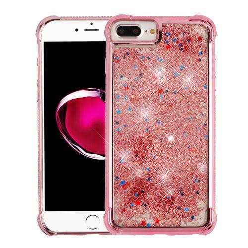 MUNDAZE Rose Gold Motion Glitter Chrome Case For Apple iphone 6 Plus/6s Plus Phone