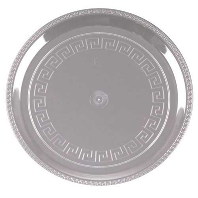10 Inch Plastic Clear Party Tray/Set of 25