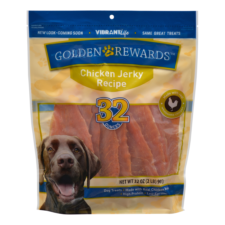 Golden Rewards Chicken Jerky Dog Treats, 32 oz.