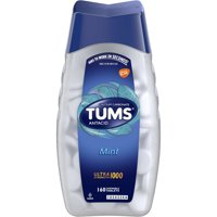TUMS Antacid Chewable Tablets, Ultra Strength for Heartburn Relief, Peppermint, 160 count