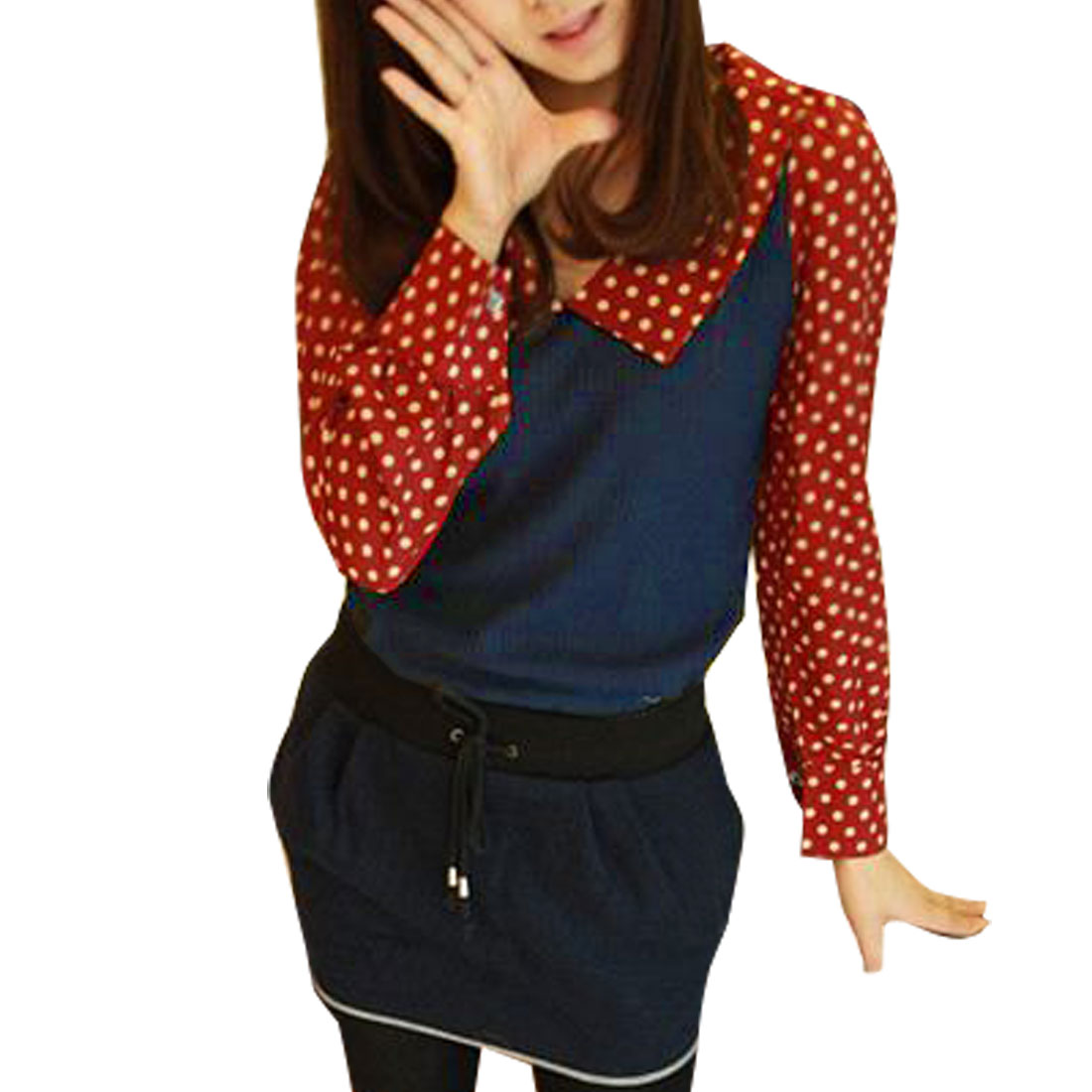 Juniors Red Blouse 27