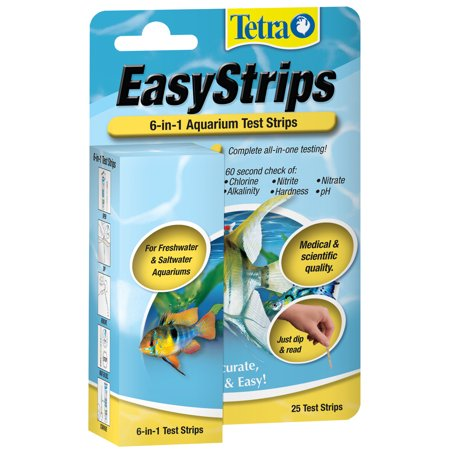Tetra Second Nature 19542 6-in-1 EasyStrips Test Strips, 25-Pack