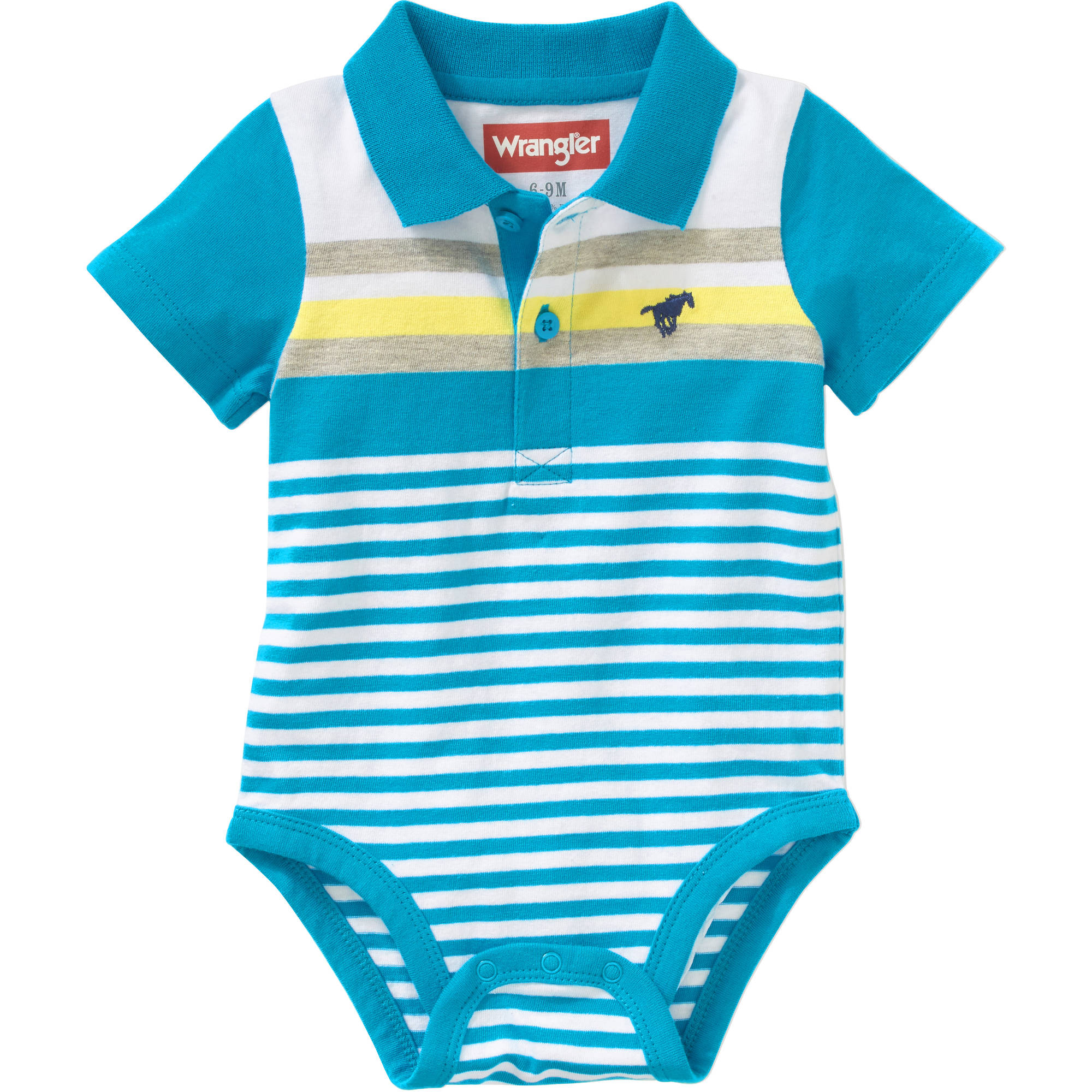 Newborn Baby Boy Knit Combo Stripe Polo Bodysuit - Walmart.com