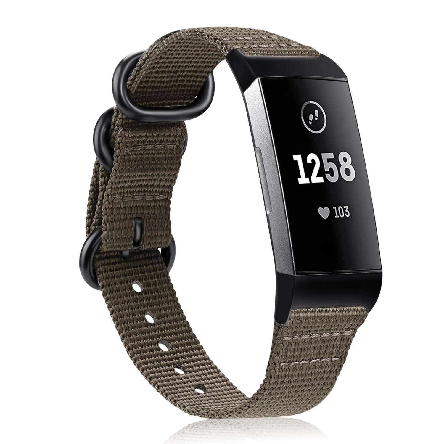 Fintie Bands for Fitbit Charge 3 SE Fitness Activity Tracker, Soft Woven Nylon Sports Band Replacement Strap Desert Tan