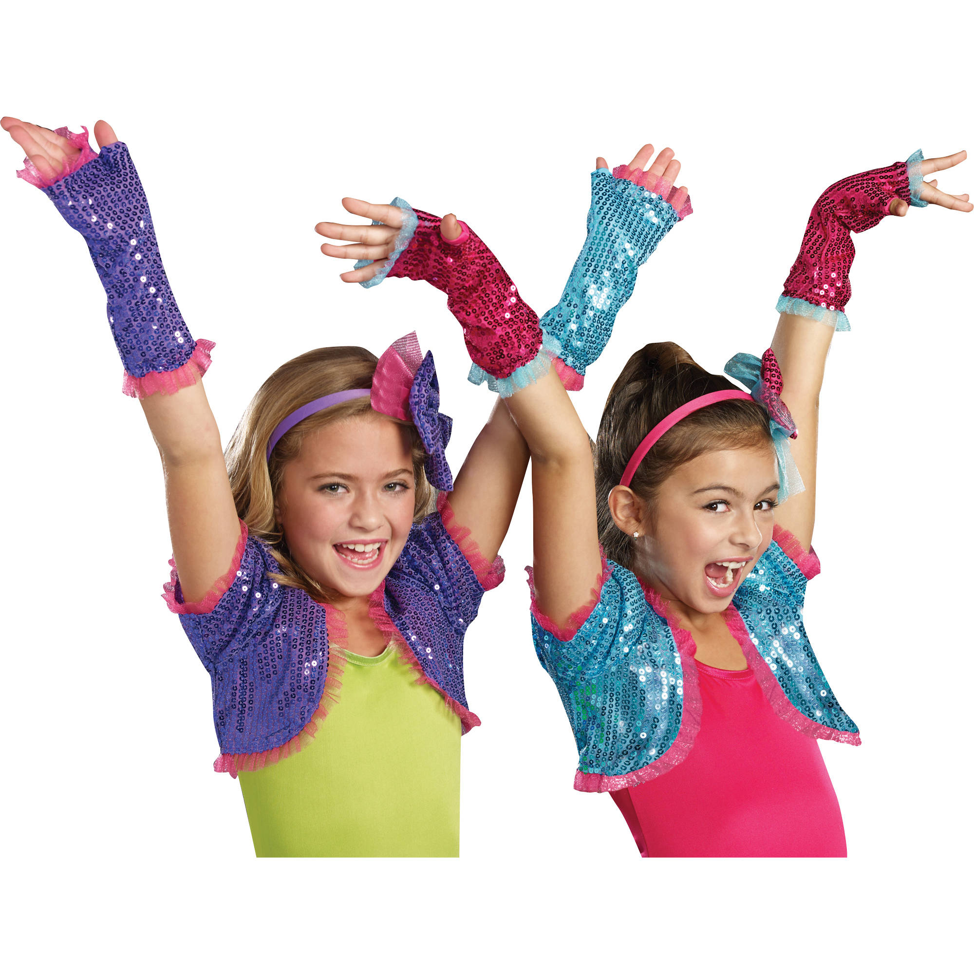 Pink Dance Craze Arm Warmers Child Halloween Accessory