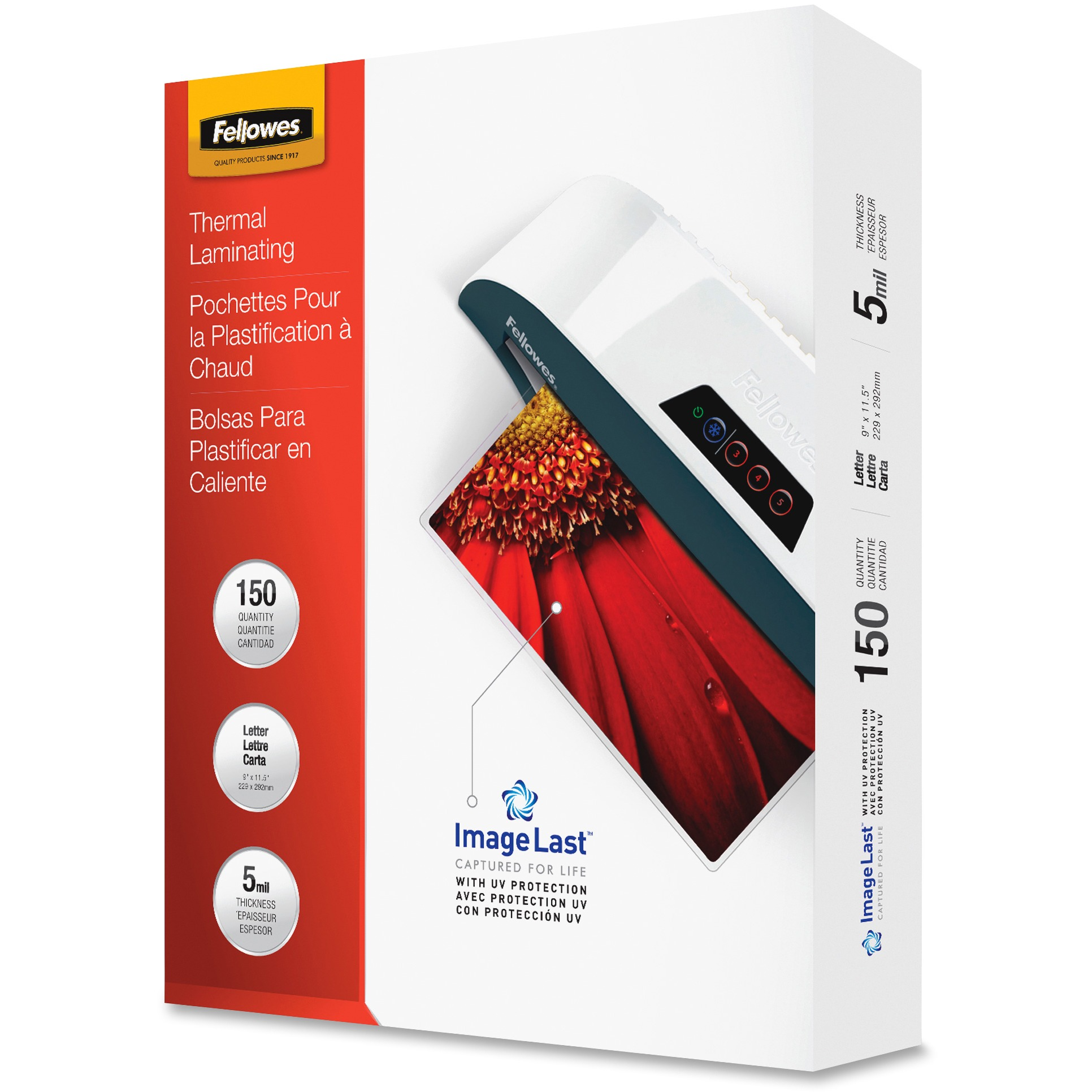 Fellowes Letter-size Laminating Pouches, 150 / Pack, Clear