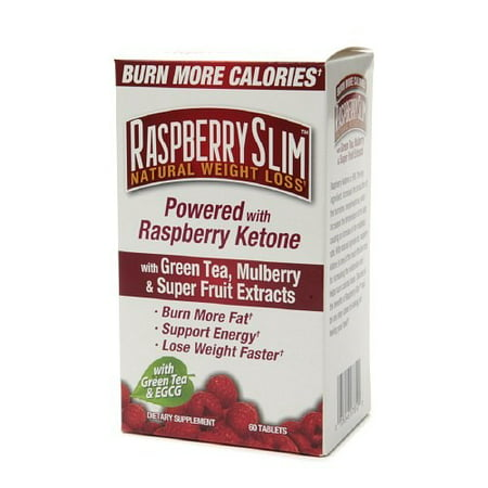 Raspberry Slim Dietary Supplement Tablets Natural Weight Loss, 60.0 CT