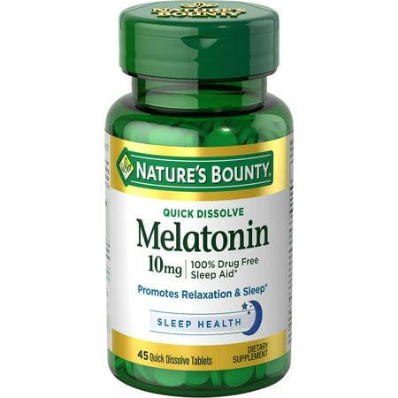 Nature's Bounty Melatonin Tablets, 10mg, 45 Ct