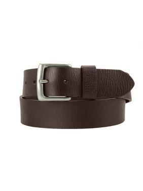 1-1/2 in. US Steer Hide Leather Pebble Grain Men's Belt w/ Antq. Nickel Buckle- Brown