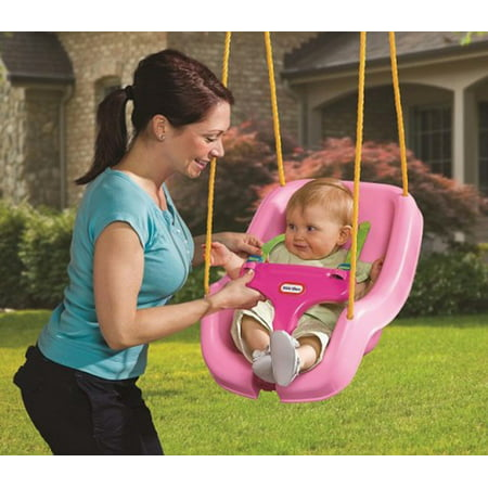 Little Tikes 2 In 1 Snug N Secure Swing Pink Brown Box