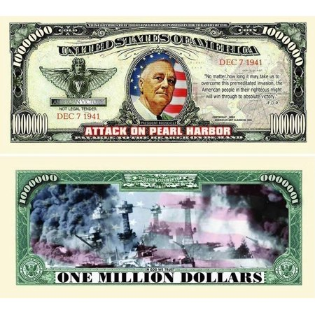 "Harbor House Coupons (50 Pearl Harbor Million Dollar Bills with Bonus ""Thanks a Million"" Gift Card Set )"