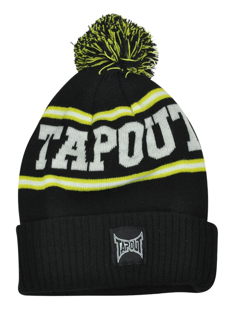 Tapout Black Toque Pom Pom Cuffed Knit Beanie MMA Mixed Martial Arts Hat  Black - Walmart.com 83c933f925c9