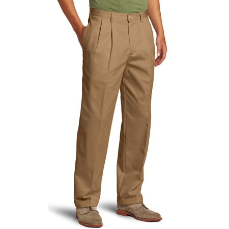 IZOD NEW Brown Mens Size 30X32 Khakis Chinos Pleated Solid Pants