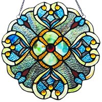 Seas Of Blue Stained Glass Window Panel