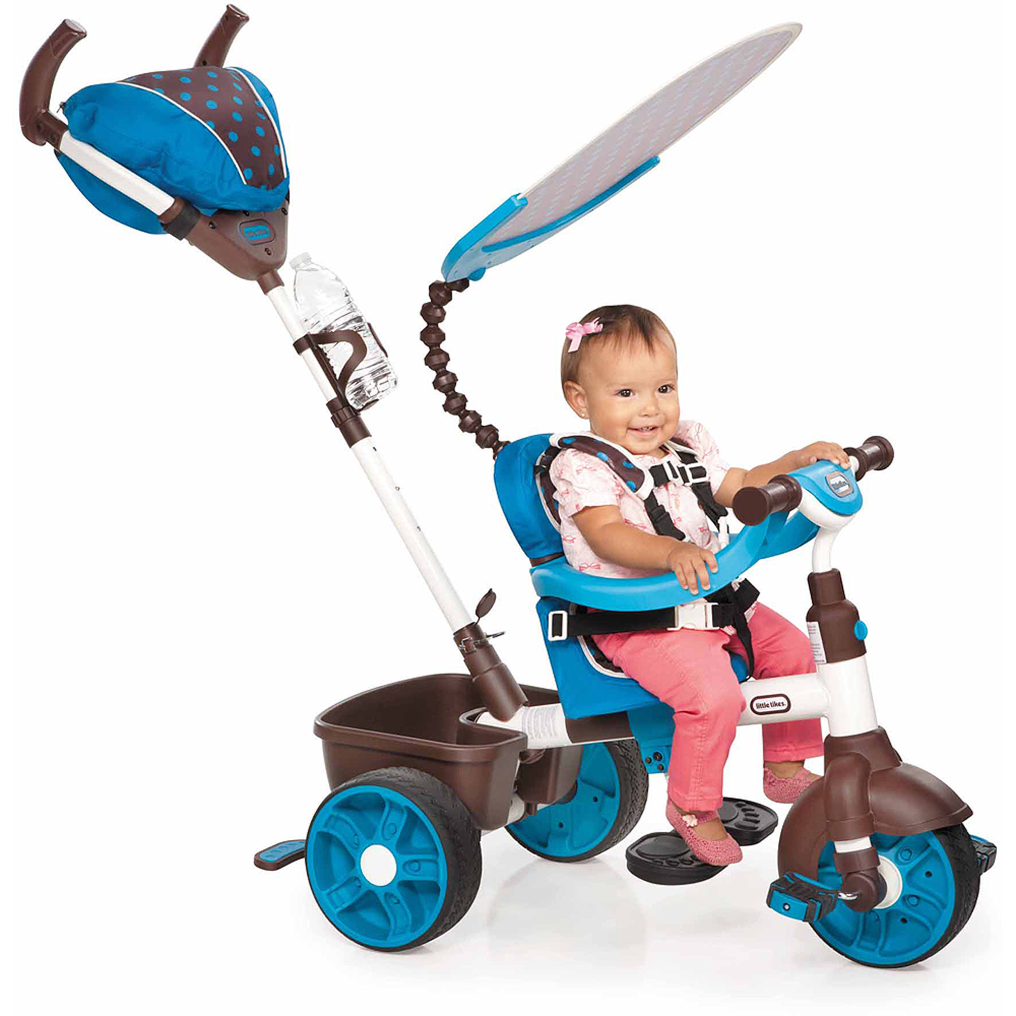 Little Tikes 4-in-1 Sports Edition Trike, Blue/White
