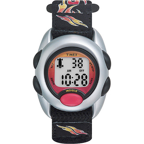 Timex Kids Digital Watch, Flames Fast Wrap Velcro Strap