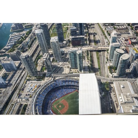 LAMINATED POSTER Football Toronto Rodgers Center Canada Cn Tower Poster Print 24 x 36 - Science Centre Toronto Halloween
