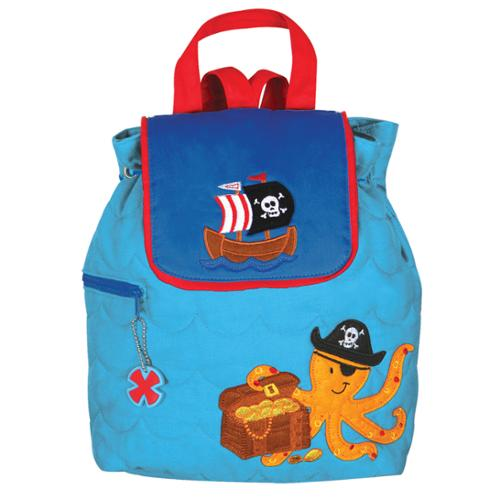 Stephen Joseph Boys Kids Quilted Pirate Octopus School Travel Backpack Bag NEW