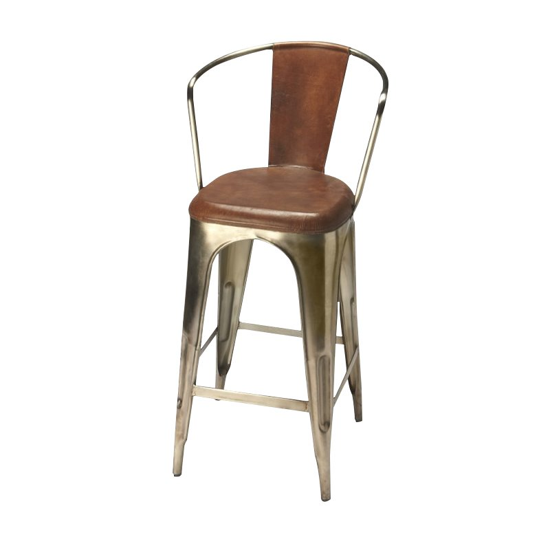 Butler Specialty Industrial Chic 26 Quot Bar Stool In Brown