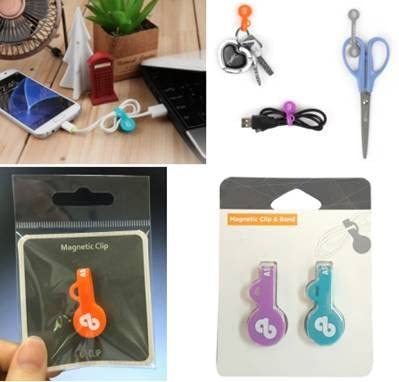50 PK E-Clip /& Cable Organizer for Home MaximalPower Magnetic Twist Ties