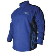 Black Stallion BXRB9C BSX Contoured FR Cotton Welding Jacket, Royal Blue, X-LG