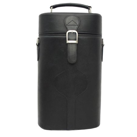 Piel Leather Wine Carrier Leather Double