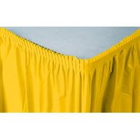 Creative Converting Plastic Table Skirt, 14-Feet, Glittering Gold