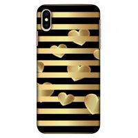 iPhone Xs Max Case, Ultra Slim Case iPhone Xs Max Handcrafted Printed Hard Shell Back Protective Cover Designer iPhone Xs Max Case (2018) - Hearts Between Lines