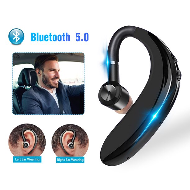 Bluetooth Headset Tsv Wireless Earpiece Bluetooth 5 0 For Cell Phones In Ear Piece Hands Free Earbuds Headphone With Mic Noise Cancelling For Driving Business Compatible With Iphone Android Walmart Com Walmart Com