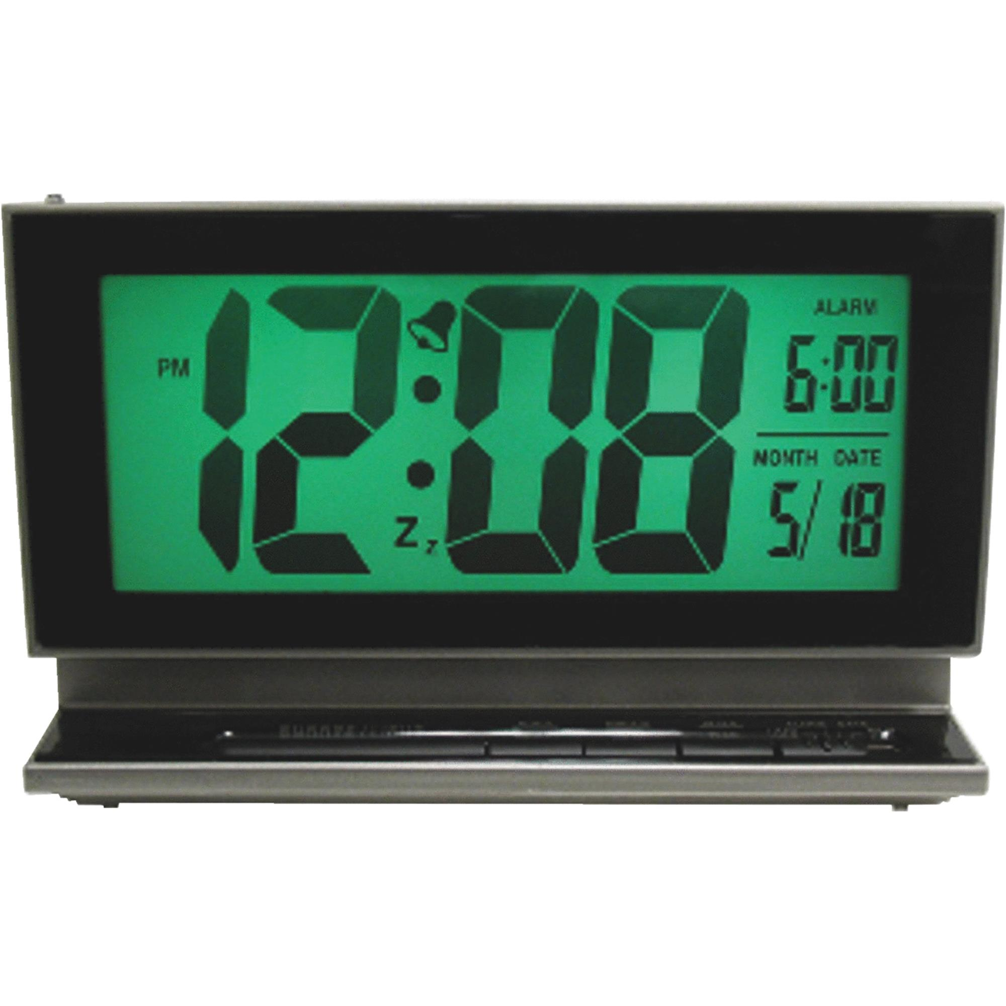 La Crosse Technology LCD Battery Operated Alarm Clock