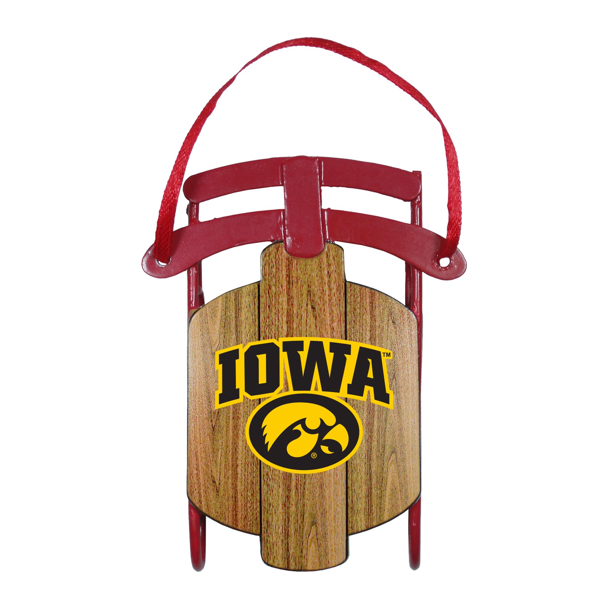 Iowa Hawkeyes Ornament - Metal Sled